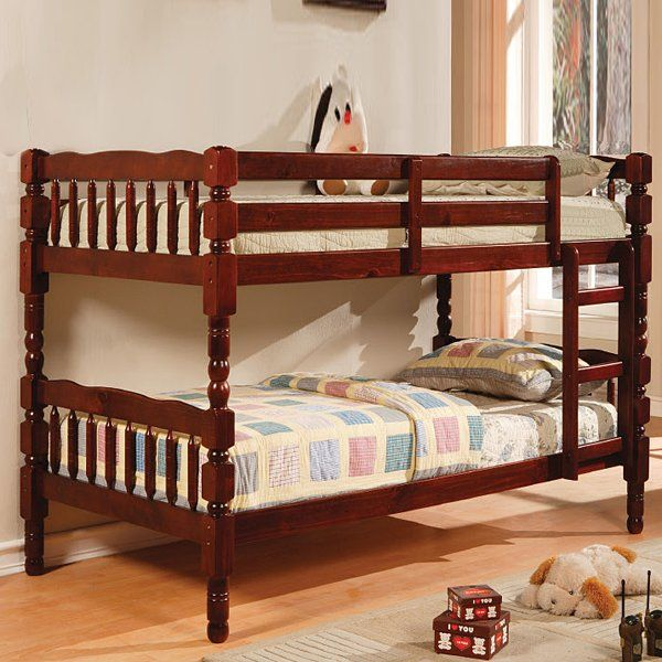 Furniture Of America Twin Twin Bunk Bed Cherry Finish Cm Bk606ch