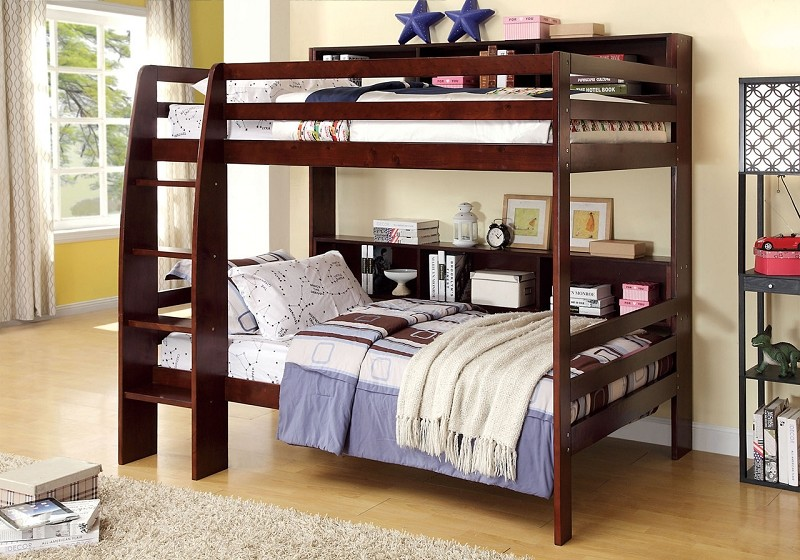 CAMINO TWIN/TWIN BUNK BED  DARK WALNUT