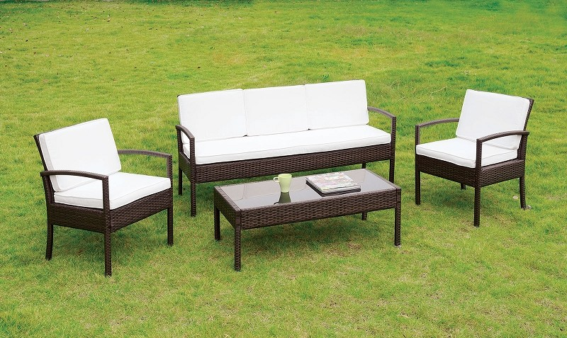 FURNITURE OF AMERICA 4 PC PATIO SEATING SET, CM-OS2119
