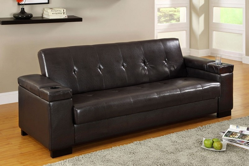 LOGAN ADJUSTABLE SOFA +STORAGE+2 CUP HOLDERS