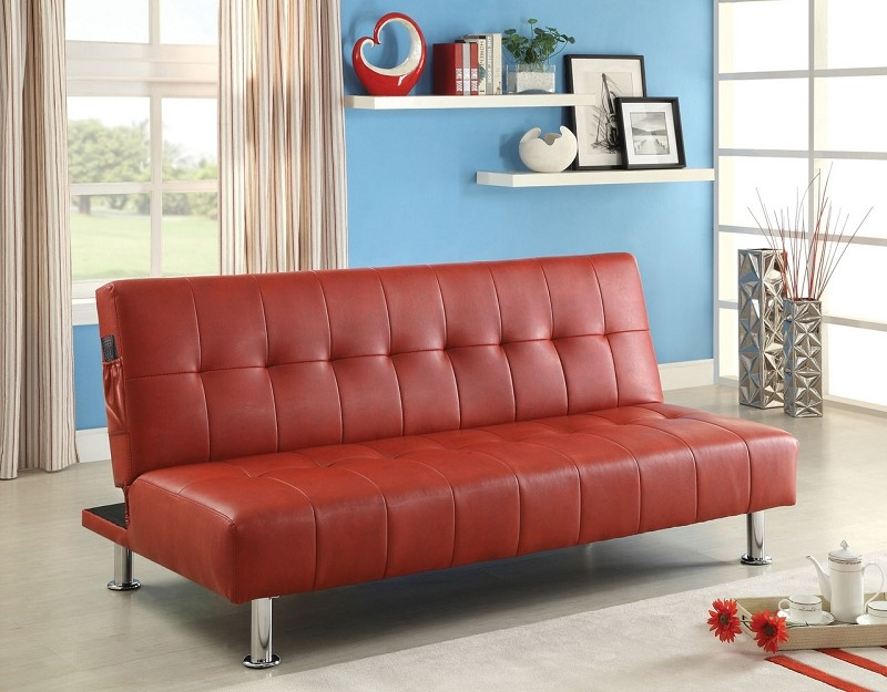 FUTON SOFA WITH SIDE POCKET