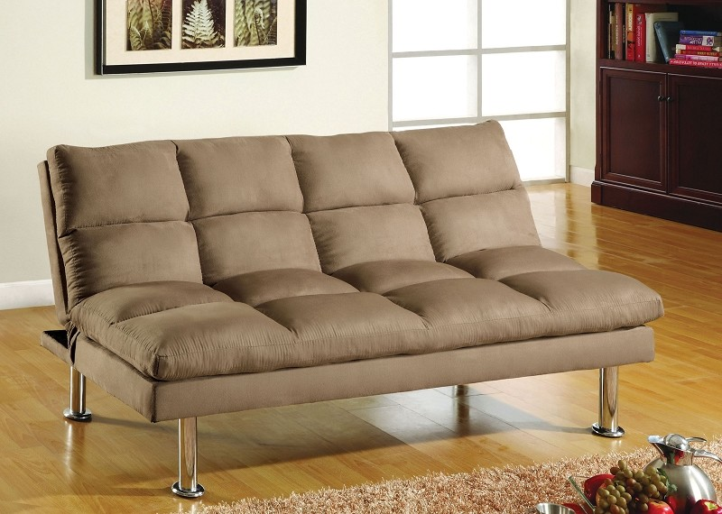 MICROFIBER FUTON SOFA BED