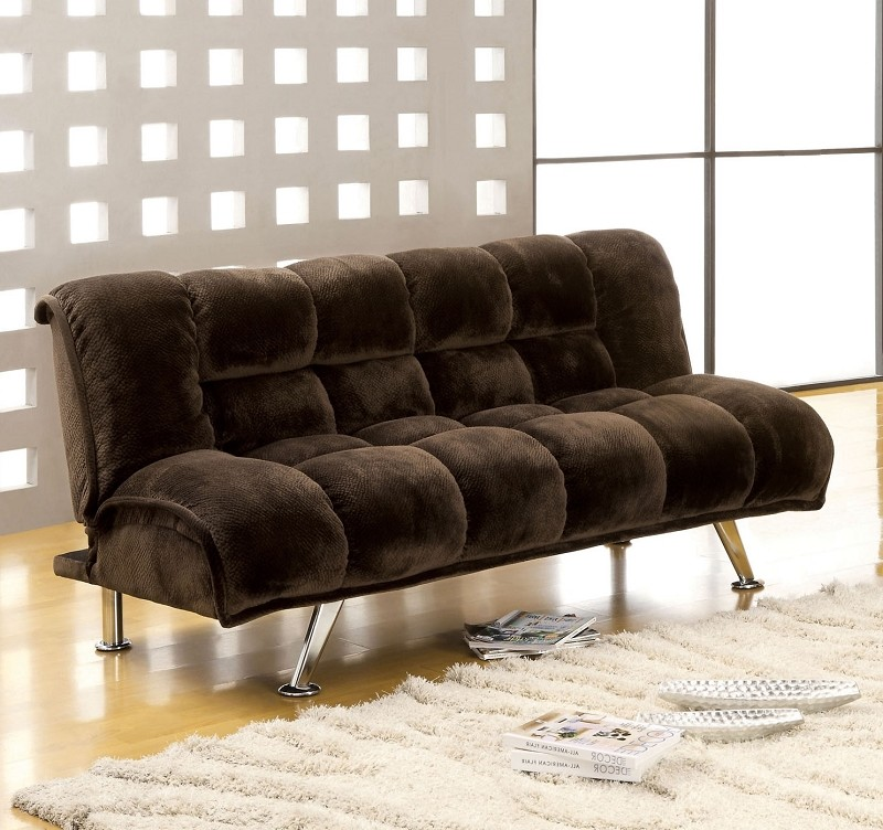 FURNITURE OF AMERICA MARBELLE ADJUSTABLE FUTON SOFA, CM2904DB