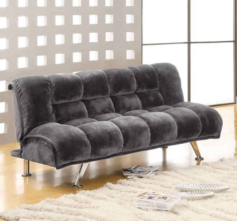 FURNITURE OF AMERICA MARBELLE ADJUSTABLE FUTON SOFA, CM2904GY