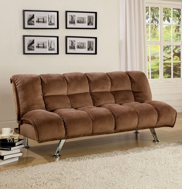 FURNITURE OF AMERICA MARBELLE ADJUSTABLE FUTON SOFA, CM2904LT