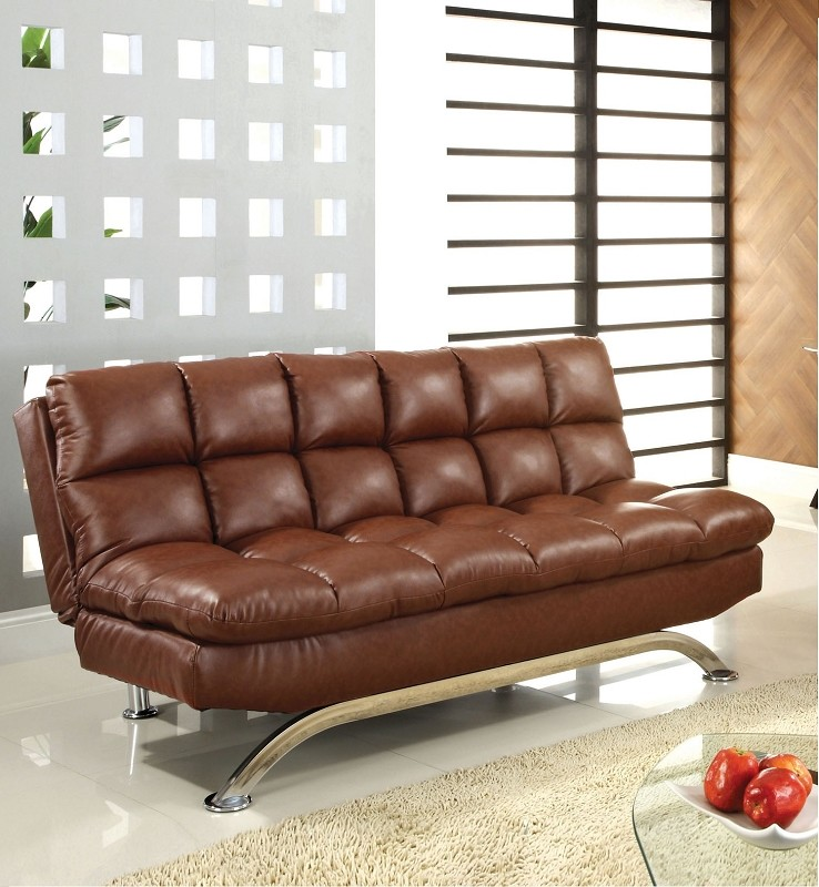 ARISTO FUTON SOFA BED   BROWN