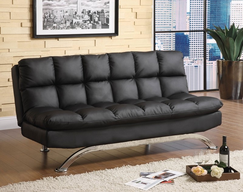 ARISTO FUTON SOFA BLACK FINISH