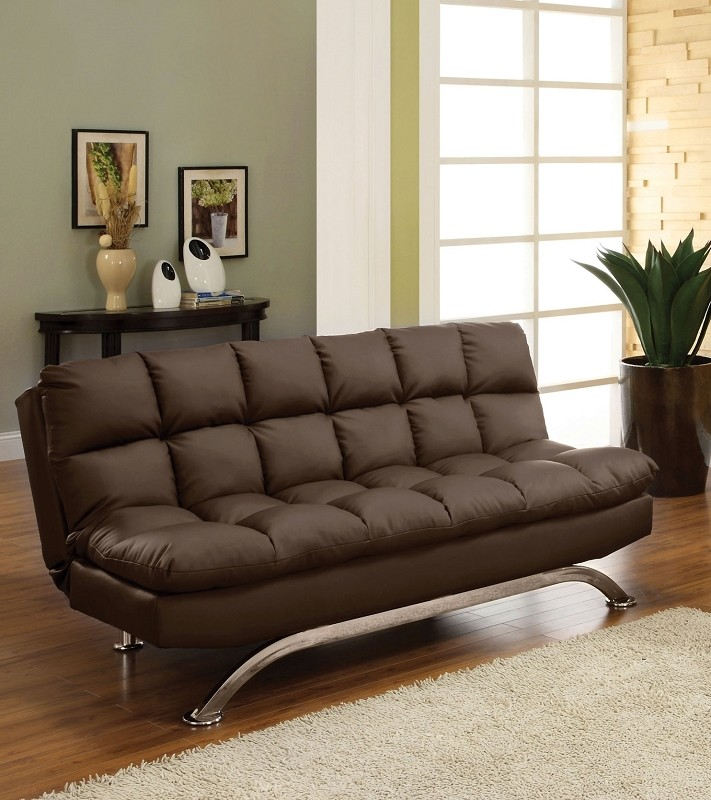 ARISTO FUTON SOFA BED  DARK BROWN