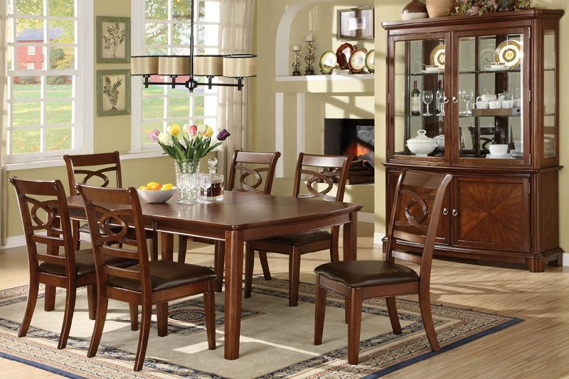 7PCS DINETTE SET, TABLE+6 SIDE CHAIRS
