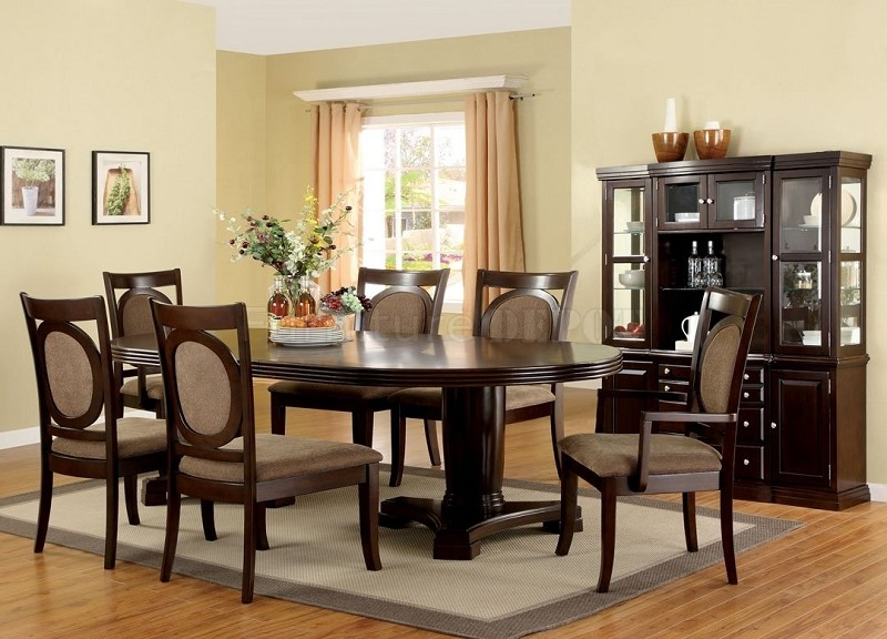 7PCS DINETTE SET, TABLE+2ARMS CHAIRS+4SIDE CHAIRS