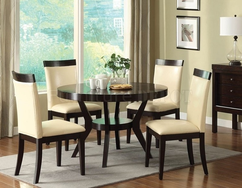 5PCS DINETTE SET ROUND TABLE  + 4 SIDE CHAIRS