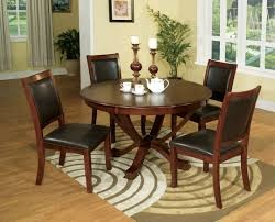 SANDY POINT 5PC DINETTE SET ROUND TOP TABLE TABLE+4 CHAIRS