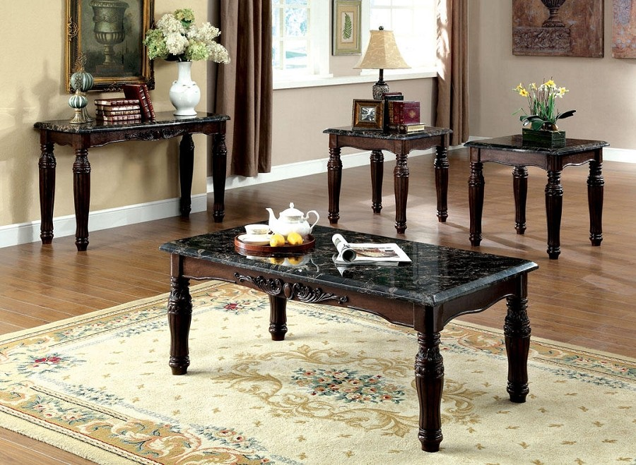 FURNITURE OF AMERICA, BRAMPTON 3 PCS SET TABLES, 1 COFFEE TABLE+2 END TABLES, CM4292EX