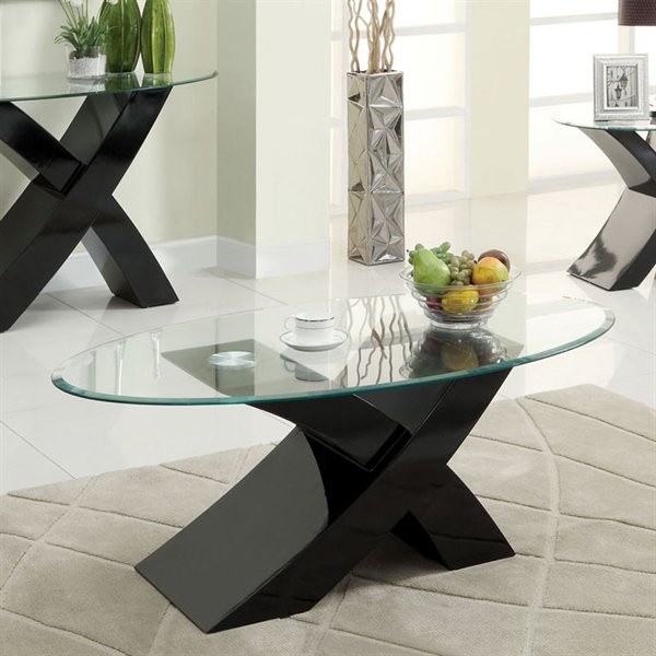 FURNITURE OF AMERICA, XTRES COFFEE TABLE  BLACK, CM4370BK-C