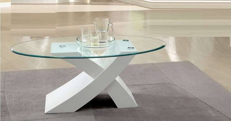 FURNITURE OF AMERICA, XTRES COFFEE TABLE WHITE, CM4370WH-C