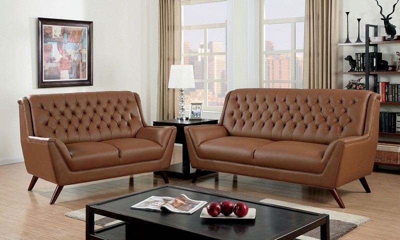 2 PCS SOFA SET BONDED LEATHER