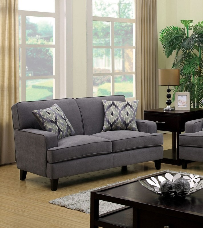 FURNITURE OF AMERICA, LOVE SEAT GRAY, CM6036GY-LV