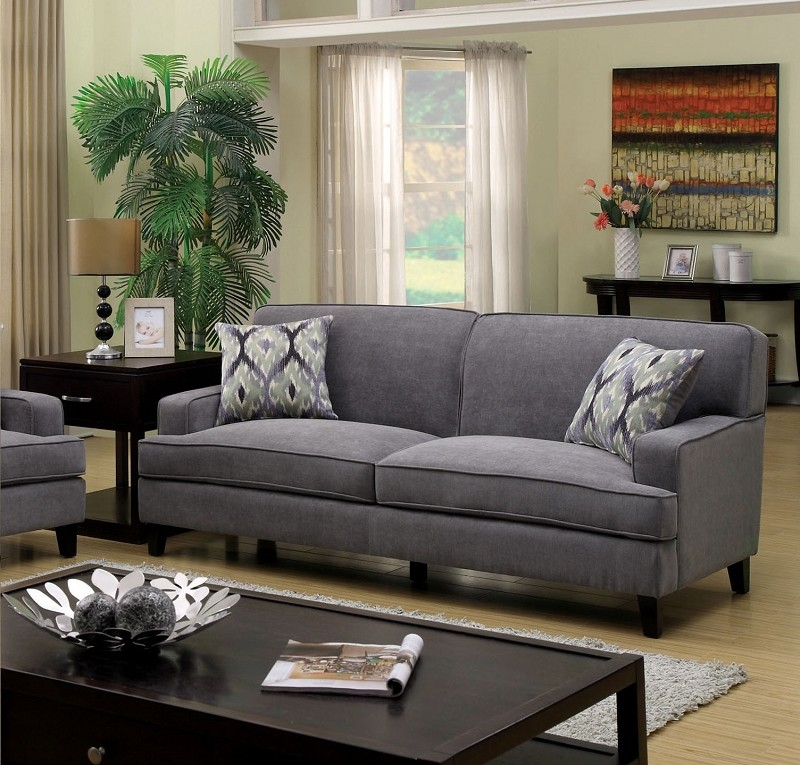 FURNITURE OF AMERICA,  SOFA  GREY, CM6036GY-SF