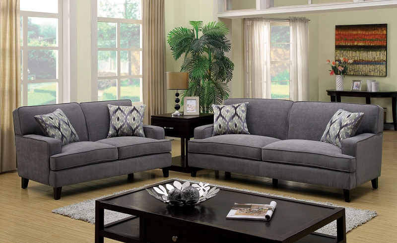 2 PCS SOFA SET GRAY.