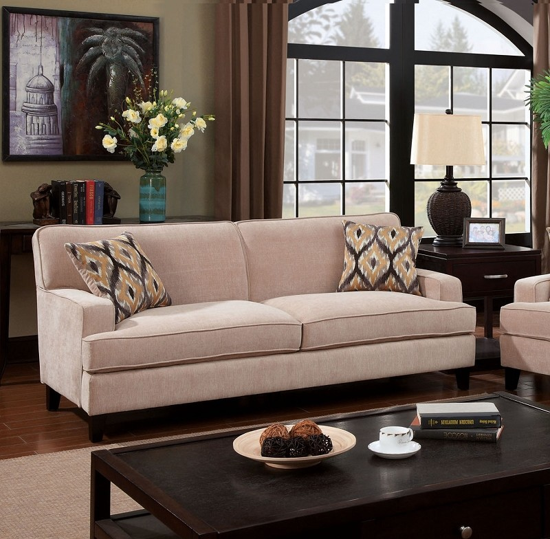 FURNITURE OF AMERICA,  SOFA  SET IVORY, CM6036IV-SF