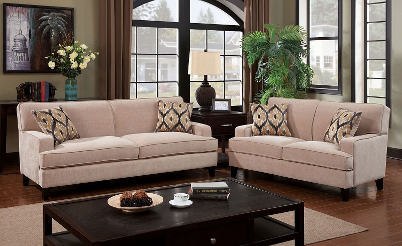 2 PCS SOFA  SET IVORY
