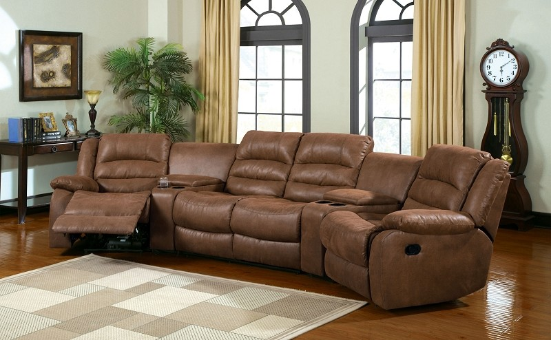 FURNITURE OF AMERICA MANCHESTER SECTIONAL WITH 2 RECLINERS, CM6123