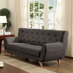 FURNITURE OF AMERICA, CARIN SOFA GRAY LINEN LIKE FABRIC, CM6134GY-SF
