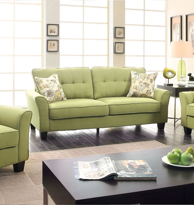 FURNITURE OF AMERICA, CLAIRE SOFA GREEN, CM6266GR-S