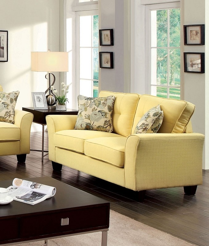 LOVE SEAT YELLOW
