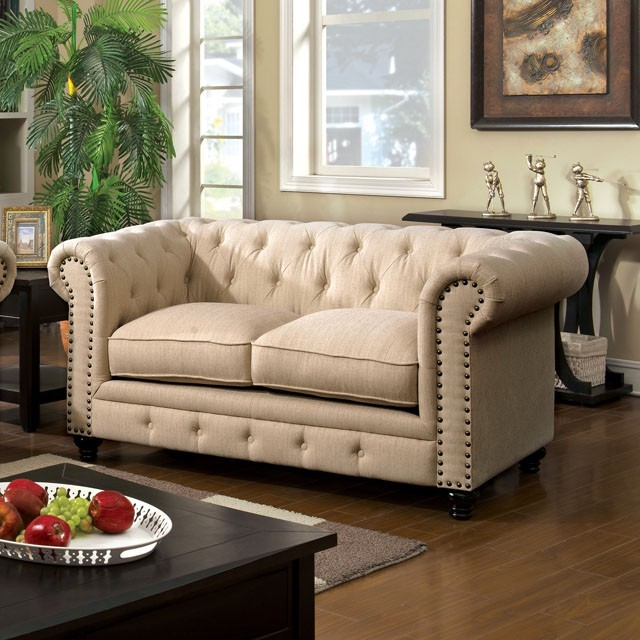 LOVE SEAT  IVORY FABRIC