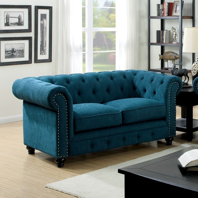 LOVE SEAT DARK TEAL