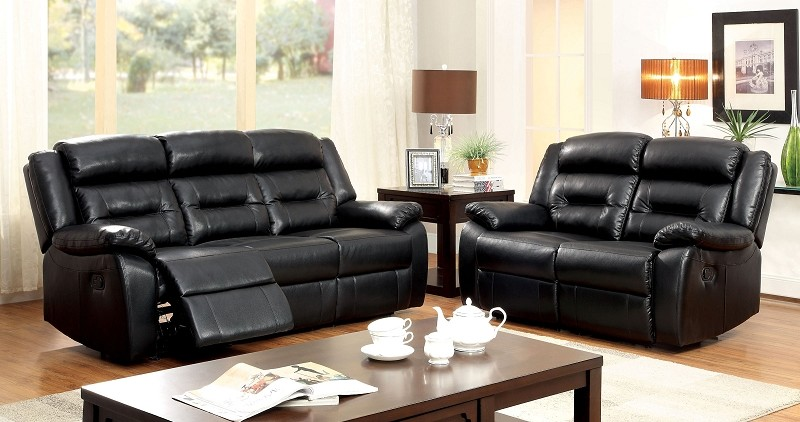 FURNITURE OF AMERICA, SHELDON 2 PCS SOFA SET WITH 4 RECLINERS, CM6320