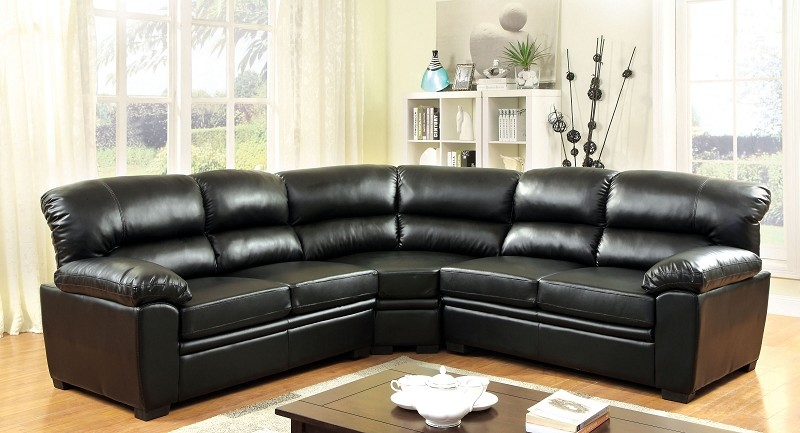 FURNITURE OF AMERICA OLIVER SECTIONAL, CM6325BK