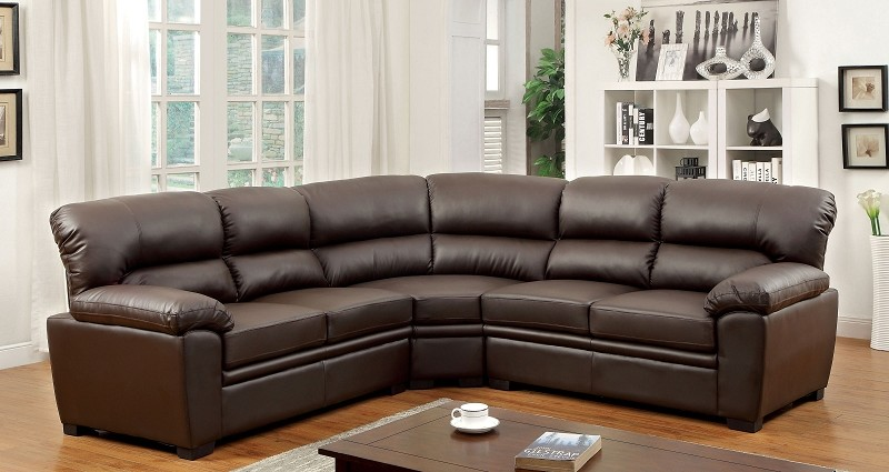 FURNITURE OF AMERICA OLIVER SECTIONAL , CM6325BR