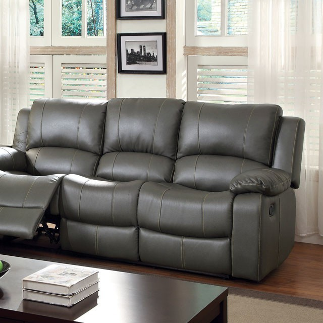 SOFA  WITH 2 RECLINERS GRAY