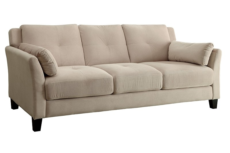 FURNITURE OF AMERICA YSABEL SOFA FLANNELETTE BEIGE, CM6716NV-SF