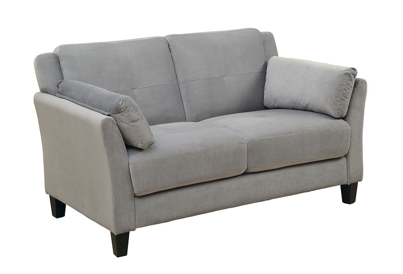 FURNITURE OF AMERICA YSABEL LOVE SEAT  FLANNELETTE GRAY, CM6716GY-LV
