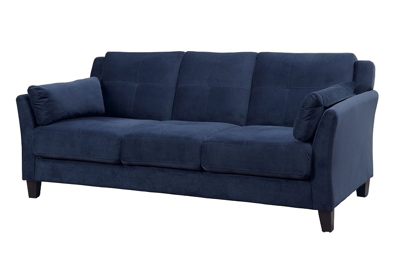 FURNITURE OF AMERICA YSABEL SOFA FLANNELETTE NAVY BLUE, CM6716NV-SF