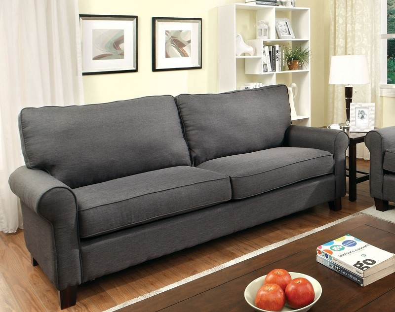 FURNITURE OF AMERICA,  SOFA GRAY, CM6760GY-SF