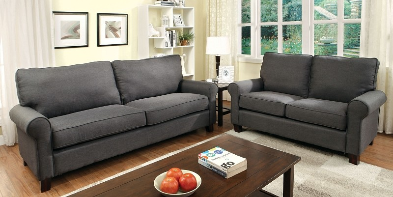 2 PCS SOFA SET GREY