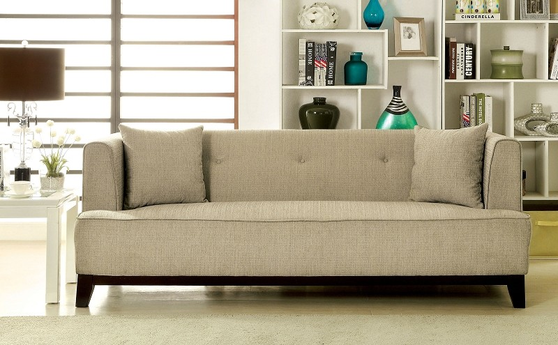 FURNITURE OF AMERICA, SOFA  BEIGE, CM6761BG-SF
