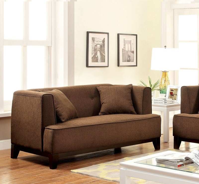 LOVE SEAT BROWN.