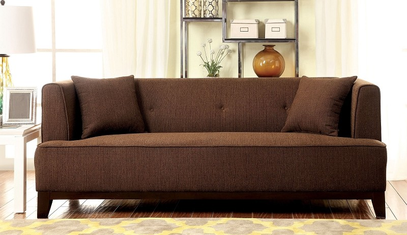 FURNITURE OF AMERICA, SOFA  BROWN, CM6761BR-SF
