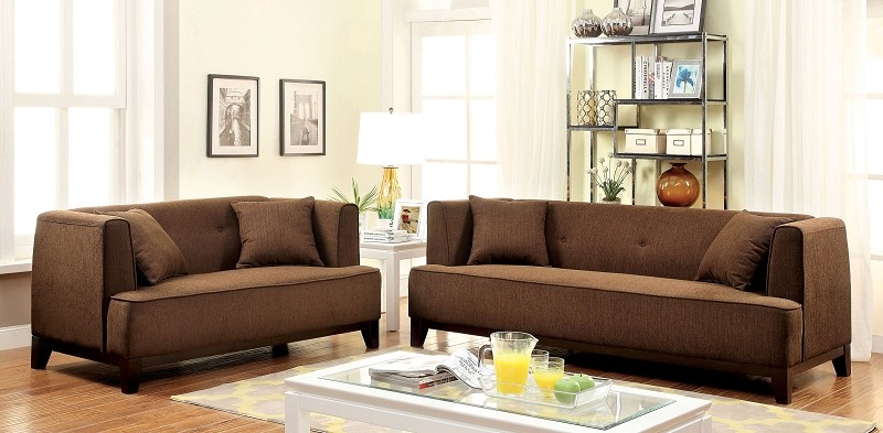 2 PCS SOFA SET BROWN TEAL
