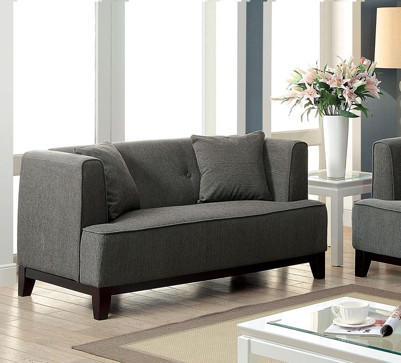 LOVE SEAT  DARK GRAY.