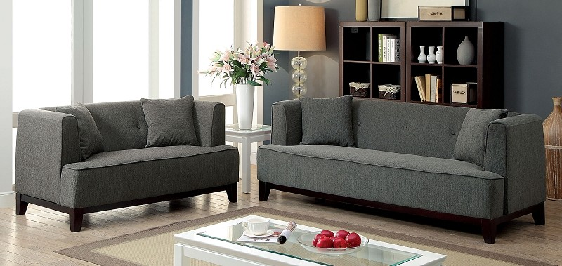 2 PCS SOFA SET GRAY TEAL