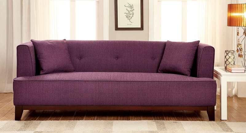 FURNITURE OF AMERICA, SOFA  PURPLE, CM6761PR-SF