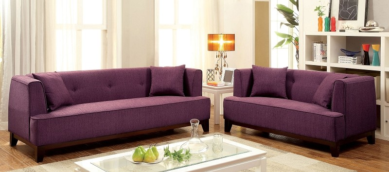 2 PCS SOFA SET PURPLE TEAL