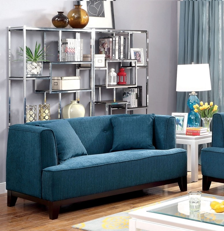 LOVE SEAT  DARK TEAL.