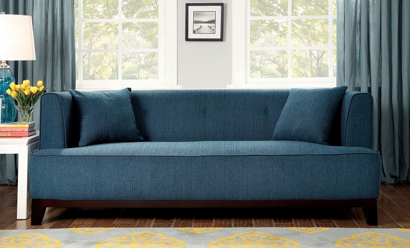FURNITURE OF AMERICA, SOFA  DARK TEAL, CM6761TL-SF
